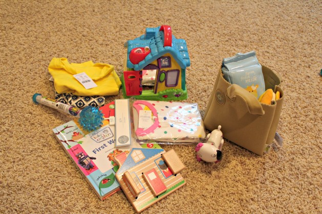 lily's read, wear, want and need gifts and her new pj's and plush grocery bag goods stocking stuffer ...farm fresh!!!